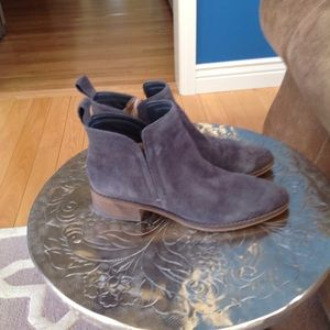Dolce vita gray sude booties size 7